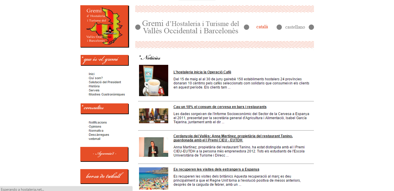 Gremi hostaleria Barcelones y Valles occidental